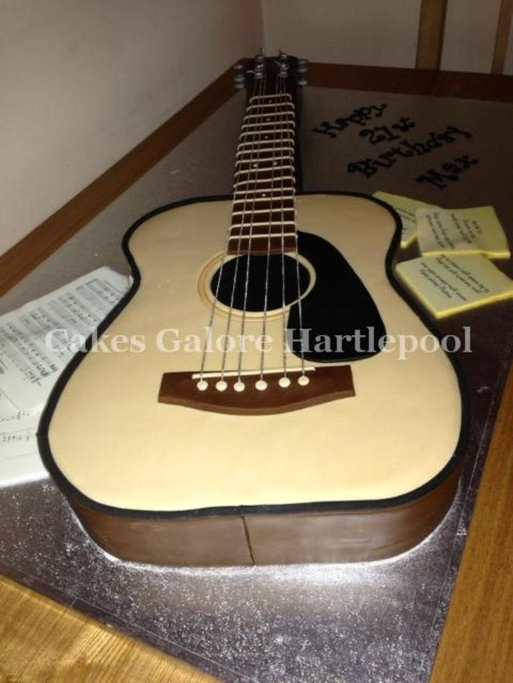 Terrific Birthday Cakes Acoustic Guitar With Lyrics From The Birthday Funny Birthday Cards Online Fluifree Goldxyz