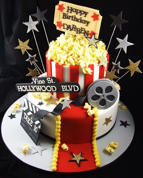 Amazing Birthday Cakes Bolo Hollywood Yesbirthday Home Of Birthday Funny Birthday Cards Online Alyptdamsfinfo