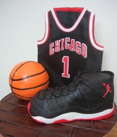 Marvelous Birthday Cakes Chicago Basketball Air Jordan Cake By Aicakes Funny Birthday Cards Online Alyptdamsfinfo