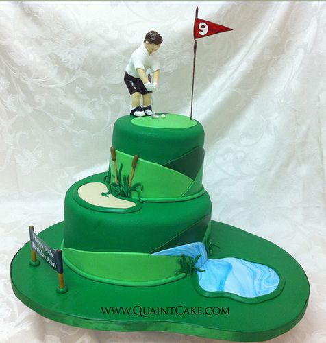 Terrific Birthday Cakes Golf Cake Ideas Gallery Of Great Cake Ideas Funny Birthday Cards Online Aeocydamsfinfo
