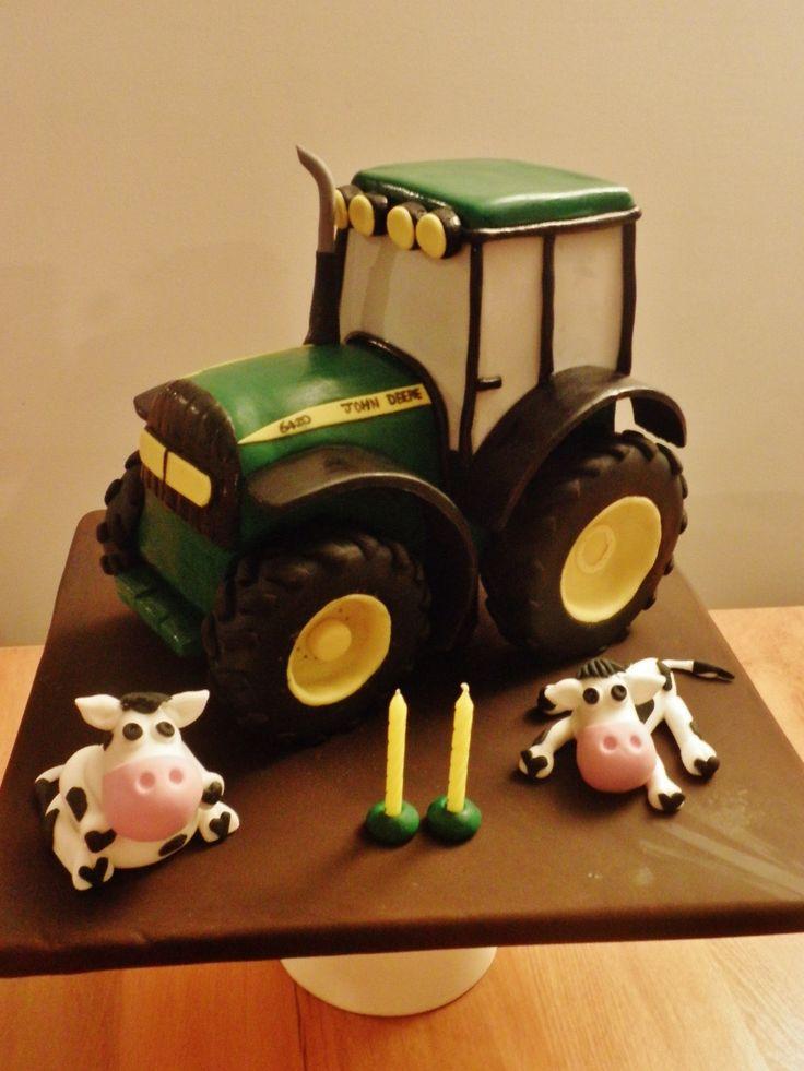 Swell Birthday Cakes John Deere Tractor Cake Yesbirthday Home Of Funny Birthday Cards Online Amentibdeldamsfinfo