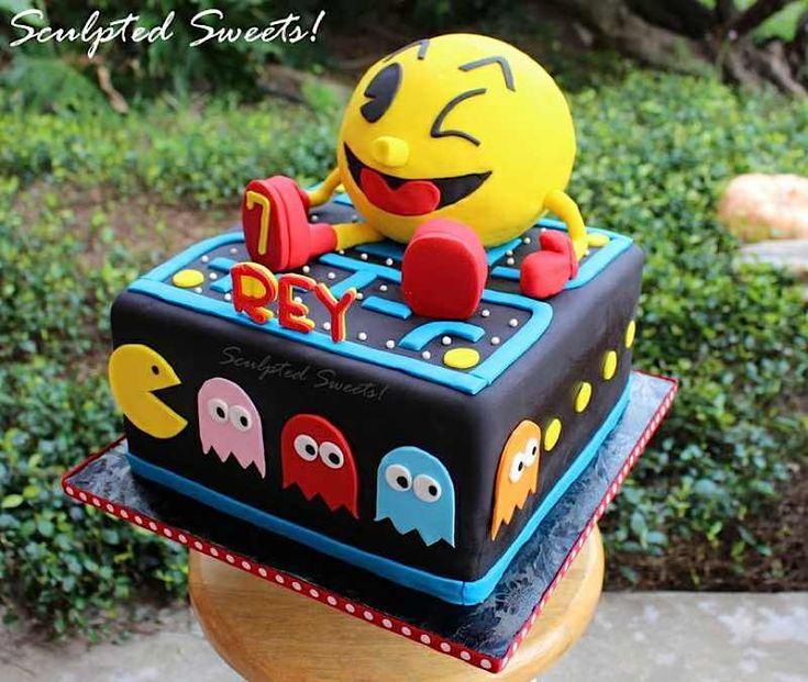 Excellent Birthday Cakes Pacman Cake Yesbirthday Home Of Birthday Funny Birthday Cards Online Alyptdamsfinfo