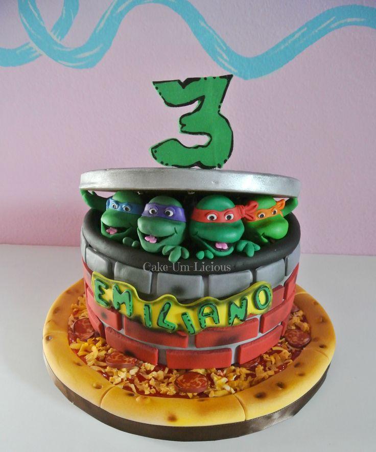 Magnificent Birthday Cakes Tmnt Cake Teenage Mutant Ninja Turtle Cake Personalised Birthday Cards Petedlily Jamesorg