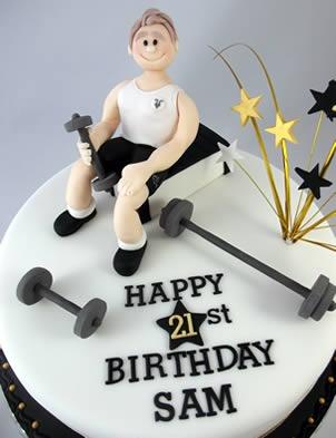Awe Inspiring Birthday Cakes Weightlifting And Gym 21St Birthday Cake Funny Birthday Cards Online Alyptdamsfinfo