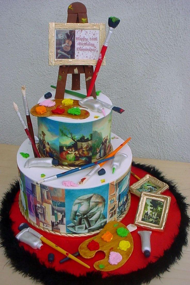 Sensational Birthday Cakes Picasso Goya Birthday Cake 6 10 Round Cake Personalised Birthday Cards Paralily Jamesorg
