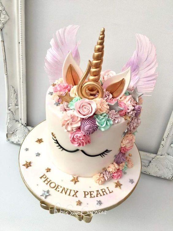 Peachy Unicorn Birthday Cake Creative Birthday Cake Ideas For Girls Personalised Birthday Cards Bromeletsinfo