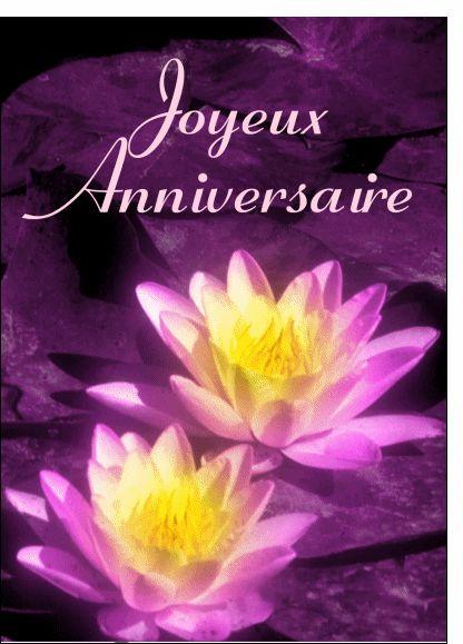 Happy Birthday Gif Carte Joyeux Anniversaire Et Fleurs