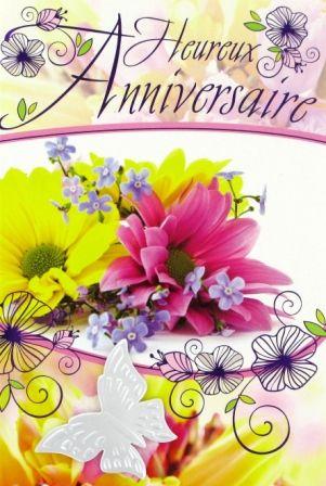 carte anniversaire femme fleurs Happy Birthday Gif : E16 03 38 – Carte Anniversaire Femme Bouquet
