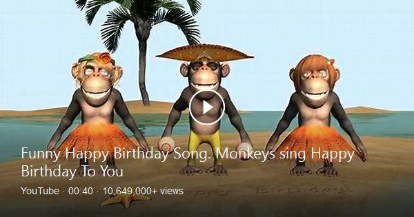 Happy Birthday Gif Funny Birthday Greetings Video Animation Were Cartoon Monkey Singing Birthday S Yesbirthday Home Of Birthday Wishes Inspiration