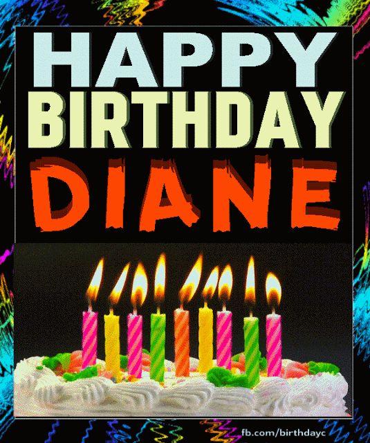 Happy Birthday Gif Happy Birthday Diane Image Gif Happy Birthday Greeting Cards Yesbirthday Home Of Birthday Wishes Inspiration