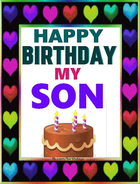Astounding Happy Birthday Gif Happy Birthday My Son Image Happy Personalised Birthday Cards Veneteletsinfo