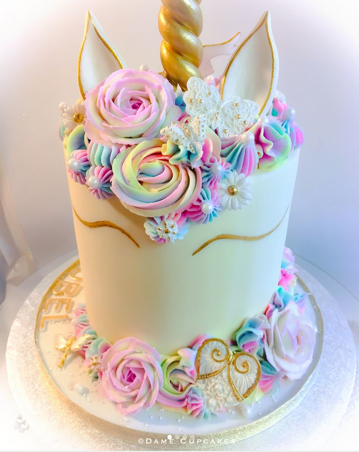 Amazing Unicorn Birthday Cake Buttercream Unicorn Cake By Dame Cupcakes Funny Birthday Cards Online Overcheapnameinfo