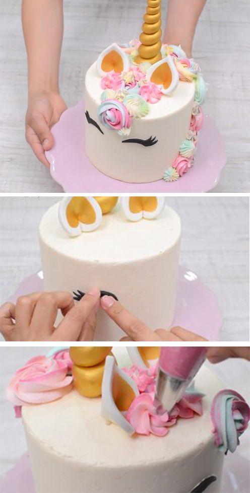 Cool Unicorn Birthday Cake Cute Unicorn Cake Tutorial The Best Personalised Birthday Cards Veneteletsinfo