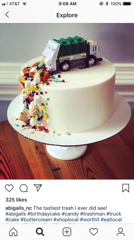 Amazing Unicorn Birthday Cake Garbage Truck Cake Yesbirthday Home Of Personalised Birthday Cards Veneteletsinfo