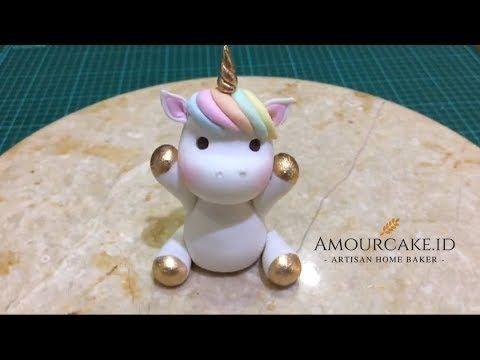 Strange Unicorn Birthday Cake How To Make A Fondant Unicorn Cake Topper Funny Birthday Cards Online Unhofree Goldxyz