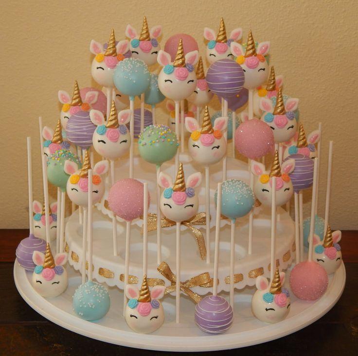 Awesome Unicorn Birthday Cake Kid Themed Cake Pops Yesbirthday Home Funny Birthday Cards Online Inifodamsfinfo