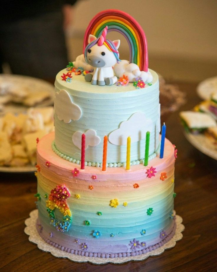 Pleasant Unicorn Birthday Cake Toddler Birthday Cake Ideas Bottom Layer Personalised Birthday Cards Veneteletsinfo