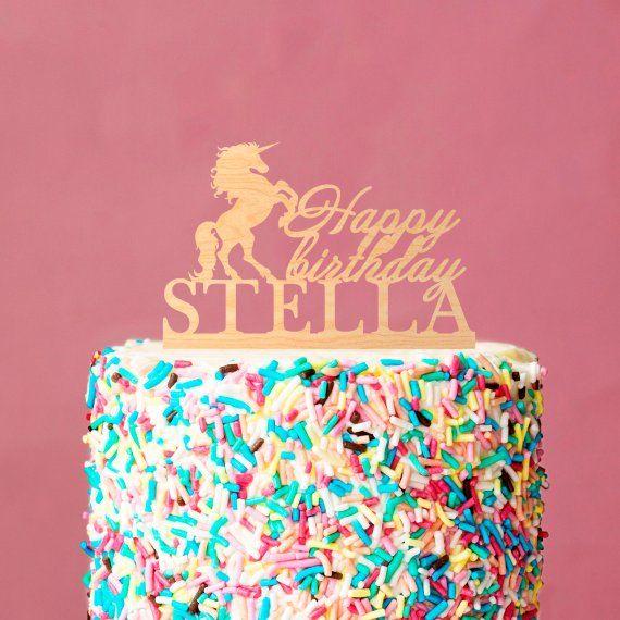 Awesome Unicorn Birthday Cake Unicorn Cake Topper Unicorn Birthday Cake Personalised Birthday Cards Xaembasilily Jamesorg