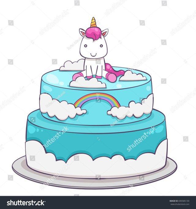 Swell Unicorn Birthday Cake 32 Pretty Photo Of Cute Birthday Cakes Funny Birthday Cards Online Alyptdamsfinfo
