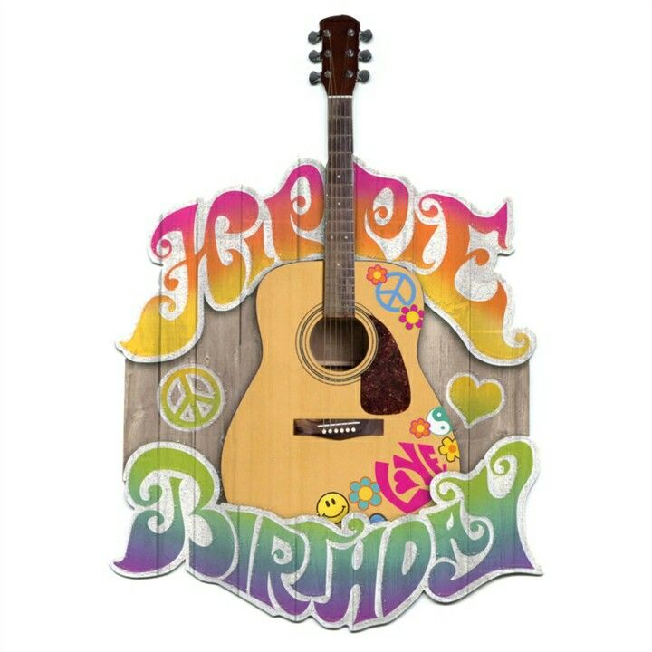 Happy Birthday Gif Hippie Birthday Cut Out Greeting Card From The Music Stand Yesbirthday Home Of Birthday Wishes Inspiration