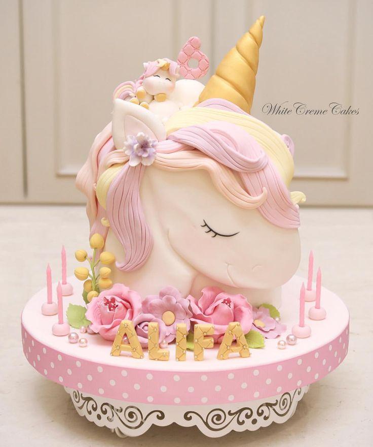 Incredible Unicorn Birthday Cake 6Th Birthday Cake Just For Alifa Personalised Birthday Cards Veneteletsinfo
