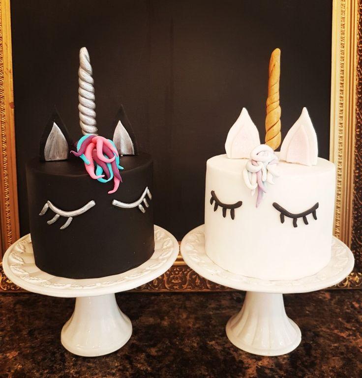 Wondrous Unicorn Birthday Cake Black White Unicorn Cakes Yesbirthday Funny Birthday Cards Online Elaedamsfinfo