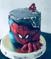 Tremendous Unicorn Birthday Cake This Spiderman Birthday Cake Is Amazing Personalised Birthday Cards Beptaeletsinfo