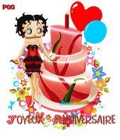 Happy Birthday Gif Gif Joyeux Anniversaire Humour Avec Betty Boop Les Gifs Animes De Dentelledel Yesbirthday Home Of Birthday Wishes Inspiration